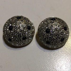 Amazing diamonique clip on round earrings